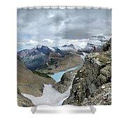 Grinnell Glacier Overlook - Glacier National Park Shower Curtain