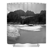 Grinnell Glacier Panorama Shower Curtain