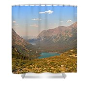Grinnell Glacier Trail Panorama Shower Curtain