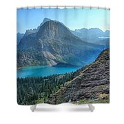 Grinnell Lake - Many Glacier Shower Curtain