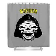 Grinning Mayhem Death Skull Shower Curtain