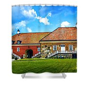 Gripsholm Castle Keep Shower Curtain