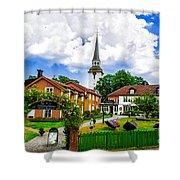 Gripsholms Dardshus Shower Curtain