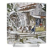 Grist Mill, 19th Century Shower Curtain