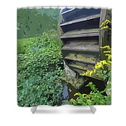 Grist Mill Water Wheel Cape Cod Shower Curtain