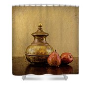 Grit And Pears Shower Curtain