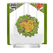 Grit The Tale Of A Hunting Terrier Shower Curtain