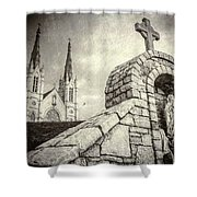 Gritty Faith Shower Curtain