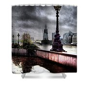 Gritty Urban London Landscape Shower Curtain