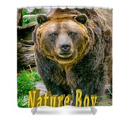 Grizzly Bear Nature Boy    Shower Curtain