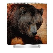 Grizzly Bear Painted Shower Curtain