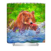 Grizzly Delights Shower Curtain