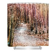 Grongarn Forest Painterly Shower Curtain