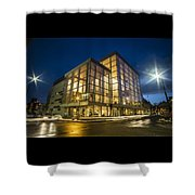 Groovy Modern Architecture One Wintry Night Shower Curtain