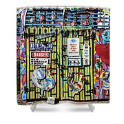 Groovy Signs Shower Curtain