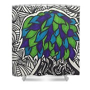 Groovy Tree Shower Curtain