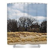 Grosse Point Lighthouse Shower Curtain