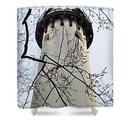 Grosse Point Lighthouse Tower Shower Curtain