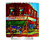 Grosterns Market Shower Curtain