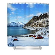 Grotfjord Norway Shower Curtain