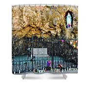 Grotto At San Xavier Mission - Tucson Arizona Shower Curtain