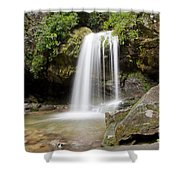 Grotto Falls Great Smoky Mountains Shower Curtain by Jemmy Archer