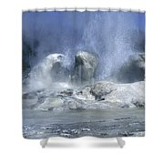Grotto Geyser - Yellowstone National Park Shower Curtain