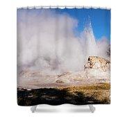 Grotto Geyser Eruption And Spray Shower Curtain