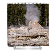 Grotto Geyser Eruption Two Shower Curtain