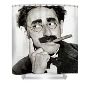 Groucho Marx, Vintage Comedy Actor Shower Curtain