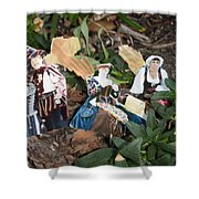 Ground Faries Shower Curtain