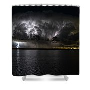 Ground Strike Shower Curtain