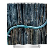 Copper Ground Wire On Utility Pole Shower Curtain
