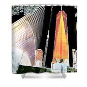Ground  Zero Freedom Tower Formerly World Trade  Centre Wtc New York Photo Taken On July 4 2015 Usa  Shower Curtain