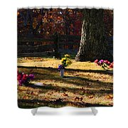 Groundhog Hill Cemetery Shower Curtain
