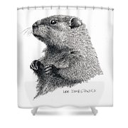 Groundhog Or Woodchuck Shower Curtain