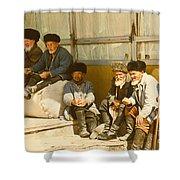 Group Of Uzbek Retirees Shower Curtain