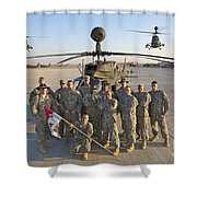 Group Photo Of U.s. Soldiers At Cob Shower Curtain