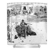 Grouse Hunting, 1887 Shower Curtain