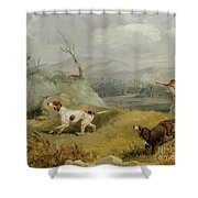 Grouse Shooting Shower Curtain by Henry Thomas Alken