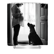Growing Family Shower Curtain by Kelly Hazel