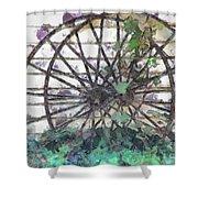 Growing Wheels Shower Curtain