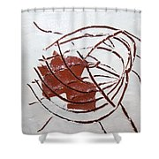Growth - Tile Shower Curtain