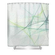 Growth Computer Graphic Line Pattern Shower Curtain