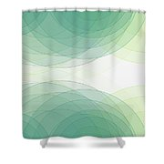 Growth Semi Circle Background Horizontal Shower Curtain