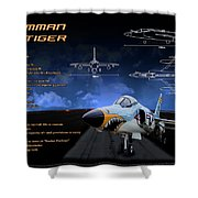Grumman F-11 Tiger Shower Curtain