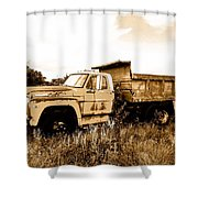 Grump The Ford Dump Truck Shower Curtain