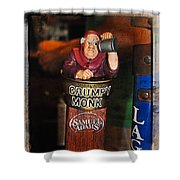 Grumpy Monk Shower Curtain
