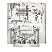 Grundy Typewriter Patent 1889 Shower Curtain