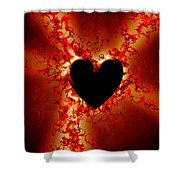 Grunge Heart Shower Curtain